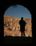 Hombre y montañas Foto de archivo