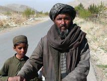 Hombre y muchacho de Pashtun Imagen de archivo libre de regalías