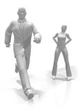 Hombre y mujer-1 Royalty Free Stock Photos