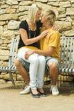 Hombre y mujer. Fotos de archivo libres de regalías