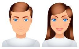 Hombre y mujer. Imagen de archivo libre de regalías