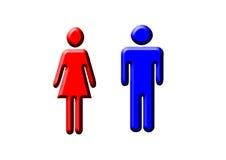 Hombre y mujer Foto de archivo libre de regalías