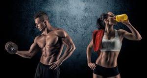 Hombre y mujer atléticos Imagen de archivo libre de regalías