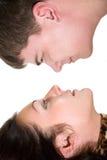 Hombre y mujer cariñosos Foto de archivo libre de regalías