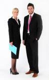 Hombre y mujer de negocios Imágenes de archivo libres de regalías