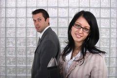 Hombre y mujer de negocios Fotos de archivo