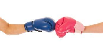 Hombre y mujer del boxeo Foto de archivo