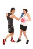 Hombre y mujer del boxeo Imagen de archivo libre de regalías