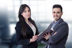 Hombre y mujer del negocio Foto de archivo