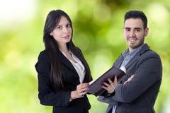 Hombre y mujer del negocio Imágenes de archivo libres de regalías
