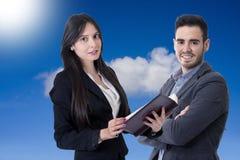 Hombre y mujer del negocio Fotos de archivo