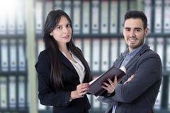 Hombre y mujer del negocio Imagen de archivo libre de regalías