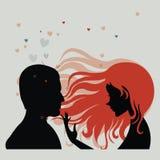 Hombre y mujer en amor Foto de archivo libre de regalías