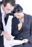 Hombre y mujer en asunto Imágenes de archivo libres de regalías