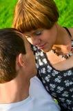 Hombre y mujer en la pasión Fotografía de archivo libre de regalías