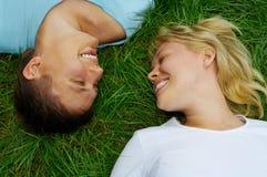 Hombre y mujer felices de los pares Fotos de archivo