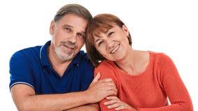 Hombre y mujer Retrato del pares adultos felices hermosos Imagen de archivo