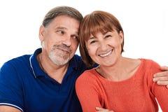 Hombre y mujer Retrato del pares adultos felices hermosos Fotografía de archivo