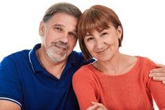 Hombre y mujer Retrato del pares adultos felices hermosos Fotos de archivo libres de regalías
