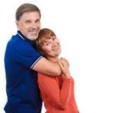 Hombre y mujer Retrato del pares adultos felices hermosos Fotografía de archivo libre de regalías