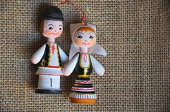 Hombre y mujer rumanos imagen de archivo