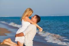 Hombre y mujer sonrientes Fotografía de archivo libre de regalías