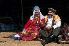Hombre y mujer turcos en vestido tradicional Fotografía de archivo libre de regalías