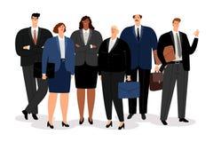 Hombre y mujeres de negocios ilustración del vector