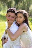 Abrazo del hombre y de la mujer Imagen de archivo