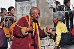 Hombre y mujeres tibetanos Imágenes de archivo libres de regalías