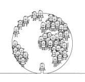 hombre y mundo stock de ilustración