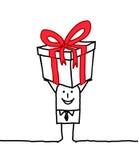 Hombre y regalo Foto de archivo libre de regalías