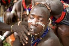Hombres africanos Foto de archivo