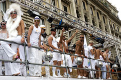 Hombres alegres Fotos de archivo