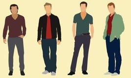 Hombres bien vestidos Fotos de archivo