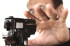Hombres con el arma imágenes de archivo libres de regalías