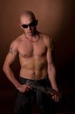 Hombres con el arma Imagen de archivo