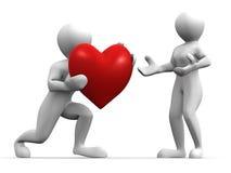 Hombres con el corazón libre illustration