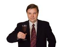 Hombres con el vidrio de vino Foto de archivo libre de regalías