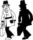Hombres con la maleta ilustración del vector