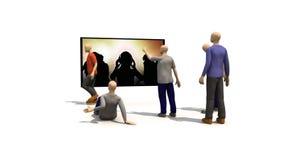 hombres 3D que presentan el baile de la gente stock de ilustración