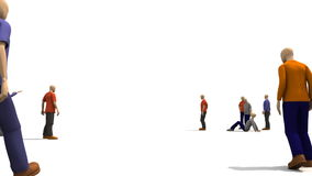 hombres 3D que presentan el baile de la gente joven ilustración del vector