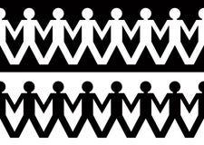 Hombres de cadena de papel Imagen de archivo