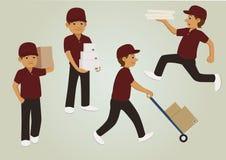 Hombres de entrega con la caja Fotografía de archivo libre de regalías