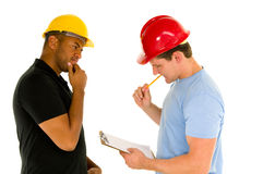 Hombres de la construcción Fotografía de archivo