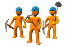 Hombres de la explotación minera Imagen de archivo libre de regalías