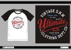 Hombres 010 de la impresión de la camiseta del vector Fotografía de archivo libre de regalías