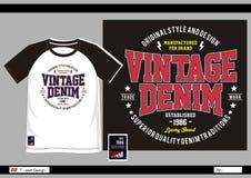 Hombres 011 de la impresión de la camiseta del vector Imagen de archivo