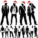 Hombres de la manera de la Navidad Fotos de archivo libres de regalías