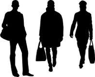 Hombres de la manera de la silueta Foto de archivo libre de regalías